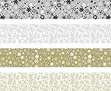Heyda 204875526 Faltstreifen-Set für Fröbelsterne 1, 5 x 60 cm, 4 Motive Sortiert