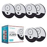 Tritace Fensteralarm mit Vibrationssensoren Set   130 dB Lautstärke   Mini Alarmanlage - Glasbruchmelder - Glasbruchalarm für Fenster   Extra Lauter Alarm   6 Stück