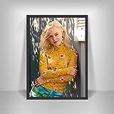 WDQFANGYI Zara Larsson Poster Schwedische Musik Sänger Star Wandkunst Bild Poster Und Drucke Leinwand Gemälde Für Zimmer Wohnkultur 40X50Cm (FLL8563)