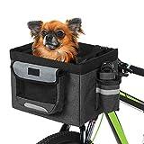 Liter Faltbarer Stoff Fahrradkorb Last Fahrrad Lenker Fronttasche Box Haustier Hund Katzengurt Hund Fahrradzubehör