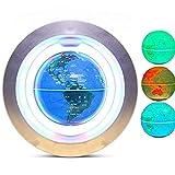 XUSHEN-HU Magnetischer schwebender Weltkarten-Globus – buntes LED-Licht, pädagogisches Geschenk, Werkzeug für Zuhause, Büro, Schreibtisch, Dekoration, kreatives Geschenk, Weltkugel