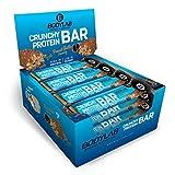 Bodylab24 Crunchy Protein Bar 12x64g / Knuspriger Protein-Riegel mit 20g Eiweiß pro Riegel / High Protein Low Sugar / Eiweißriegel mit wenig Zucker / Peanut Butter