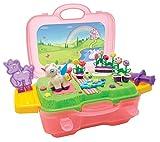 Art und Fun Knetset Einhorn im Koffer / Plattform zum Bespielen / 4x30g Knete / 15 Teile / Einhornform / Für Kinder ab 3 J