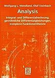 Analysis: Integral- und Differentialrechnung, gewöhnliche Differentialgleichungen, komplexe Funk