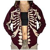 Damen Vintage Hoodies Pullover Oversized Zip Up Kordelzug Jacke Sweatshirt Langarm Loose Hoodie mit Taschen Y2K E-Girl Streetwear Jugend College Jacke Männer Jacke Sehr cool Kapuzenpullover