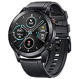 Honor MagicWatch 2 46mm Smartwatch für Herren Damen, Huawei Smart Watch Fitness Tracker Armbanduhr, Wasserdicht, GPS, 5 ATM, Android (Schwarz)