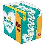 Pampers Sensitive Baby Feuchttücher, 1200 Tücher (15 x 80) Für Empfindliche Babyhaut, Dermatologisch Getestet, Baby Erstausstattung Für Neugeborene