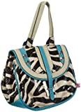 poodlebag® Schultertasche Funkyline Exotic Remix in versch. Design, Zebra Petrol oder Pink Snake Damen Handtasche