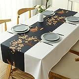 SUNFDD PVC-Tischdecke Wasserdicht, Ölbeständig Und Kratzfest Japanischer Couchtisch Kunststoff-Tischset Esstisch Outdoor-Picknick-Tischdecke 140x220cm(WxH) A