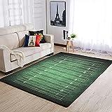 Uicoomhill Weich Rugby Field Teppiche Dekorieren Wohnzimmer Teppiche - für Kindergarten Teppich White 91x152cm