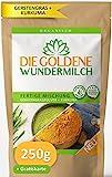 Die Goldene Milch | Kurkuma + Gerstengraspulver | FERTIGE MISCHUNG | HAUT & HAARE + IMMUNSYSTEM
