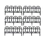 FGCBQA Schöner Dekozaun, Gartenzäune Dekorative Zaun, 33cm hoch Korrosionsschutz, mit Erdspießen, Zierzaun 5-teiliges Set (Size : 60pcs/36M)