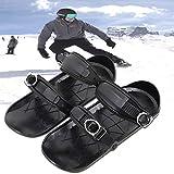 PHLPS Mini-Ski, Winter im Freien tragbar, verbesserte Version Mini-Snowboard, tragbare Skischuhe, einstellbare Bindungen, für Männer Frauen Universal Sports Skischuhe