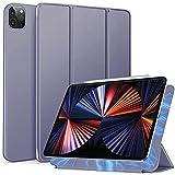 Arktis iPad Pro Hülle, magnetisches Smart Case kompatibel mit iPad Pro 12,9' (2021) [Sleep & Wake-Up-Funktion] Schutzhülle Smart Cover Case Lavendel