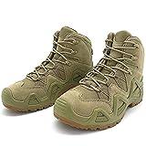 YUHAI wasserdichte Taktische Stiefel Männer, Wildleder Kampfstiefel im Freien Wandern Schuhe Militärstiefel,Khaki-40(UK 7.5)
