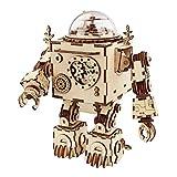 ROKR Roboter-Spieluhr, Holz, Musik, DIY-Puzzle, Bilding Kit, Spielzeug, Teen Erwachsene, handgefertigt