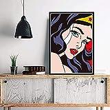 JLFDHR Plakat und Malerei 60x90cm KEIN Rahmen Kunstwerk Roy Lichtenstein Plakatkunst Malerei Wandbilder für Flur Wohnkultur