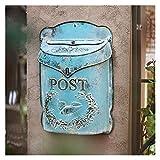 GJX-Mailbox Postfach Europäischer Stil Gusseisen Retro Alte Mailbox Briefkasten Wanddekoration Wandbehang Gartendekoration (Size : B)