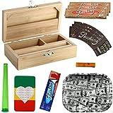 Heisenberg Rolling Box Geschenkset zum Zigarettendrehen, All-in-One Dreherbox, Bambus Aufbewahrungsbox mit Zubehör von Smoking Größe S - Small