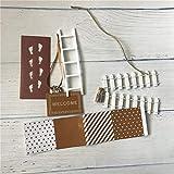 WEJUANR DIY Hand Made Fee Tür Großes Geschenk for Kind Miniatur Magische Zahnfee Fußmatte Leiter Zaun Mit Bunting Zubehörtasche (Color : Brown)