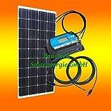 130Watt 12Volt Inselanlage, Solar Bausatz, Basis Set für Garten Camping von bau-tech Solarenergie GmbH