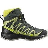 Salomon XA Pro V8 Winter Climasalomon™ Waterproof (wasserdicht) Kinder Trailrunning-Schuhe, Grau (Urban Chic/Black/Evening Primrose), 37 EU