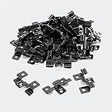 XPOtool Edelstahl Clips für Montage von Terassendielen mit 6mm Klemmhöhe, 50 Stück schwarz