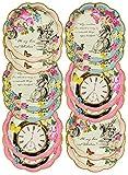 Talking Tables Truly Alice in Wonderland; Pappteller für Geburtstage, Hochzeiten, Teekränzchen und Partys, Verrückte Hutmacher-Party, 18 cm (12 pro Pack in 3 Designs)