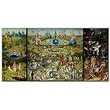 Der Garten der irdischen Leinwandbilder Von Hieronymus Bosch Reproduktionen Wandkunst Bild für Wohnzimmer Wanddekor 30x45cm Rahmenlos