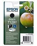 Epson Original T1291 Apfel Tinte (SX420W BX320FW SX620FW BX/SX525WD BX625FWD BX305FW B42WD BX925FWD BX635FWD BX535WD SX435/440W BX630FW SX235W WF7015 7515 7525 3010 3520 3540) schwarz