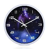 Modern Wanduhr Lautlos, CT-Tribe 12 Zoll Metall Wanduhr Uhr Uhren Wall Clock ohne Tickgeräusche - 2