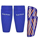Gonex Schienbeinschoner Fußball für Erwachsene Jugend Kinder Fussball Socken Shin Guard Herren Jungen Mädchen Fußball mit Gepolsterter Knöchelschutz Ausrüstung Vermeidung von Verletzungen