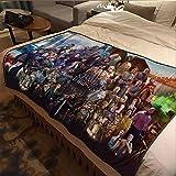 ASDIWON Game of Thrones Hochwertige warme weiche Flanell Plüsch auf der Schlafsofa Decke Geeignet für Klimaanlage Decke Nap Decke (60x80in(150x200cm),B)