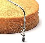 Fisko Tortenbodenschneider 32cm mit 3 Schneiddrähten! Edelstahl Cake Cutter Kuchen- oder Biskuitböden Kuchenschneider Tortenschneider