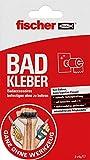 fischer BAD KLEBER, Klebstoff zur Anbringung von Badaccessoires, wasserbeständig, für Bad & Küche, Befestigung ohne Bohren, zuverlässiger Halt, 4 g