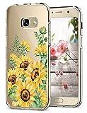 Hülle Kompatibel Samsung Galaxy A5 2017 Hüllen, Galaxy A3 2017 Schutzhülle Durchsichtig Silikon Handyhülle Clear TPU Schutz Handytasche Blumen Muster Case Cover für A5 2017 (6, Galaxy A5 2017)
