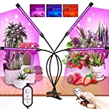 HONGXIAN Pflanzenlampe LED 360 °Einstellbar,80 LEDs Vollspektrum Pflanzenlicht,Dimmbar 10 Lichtstärken Pflanzenleuchte,Mit Timer und RF Controller LED Grow Lamp