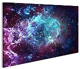 islandburner Bild Bilder auf Leinwand Sternennebel Sterne Weltall Galaxie 1p XXL Poster Leinwandbild Wandbild Dekoartikel Wohnzimmer Marke islandburner