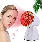 ZGHTD Rote Leichte Wärmelampe, 100W Tiefte Rote Schönheitsbirnen-Kombination Mit Leichter Buchse, 3 Infrarottechnologien Rote Glühbirne Für Hautverjüngung, Schmerzlinderung, Schlaf Und Entspannung