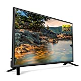 32 Zoll Full HD LED Smart TV Fernseher, 2.4G / 5G Dual WiFi Fernseher HDMI USB 2.0 Ultradünnes LCD Smart Android TV 10000: 1 Schmales Design mit hohem dynamischem Kontrast