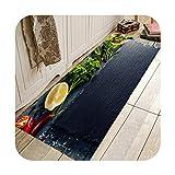 Kitchen Season Strawberry Printing Pattern Kitchen Entrance Door Mat Anti-Slip Floor Rug Bathroom Area Hallway Blau B 180 x H 60 cm