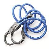 Zurrgurte, 3M universelles Auto einstellbares elastisches Bungee-Stoßkord-Riemen einstellbares Bungee-Kabel mit extra breiten Öffnungsstahlhaken für Autotransporter, Anhänger, ( Color : 1.5m blue )