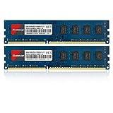 Kuesuny 8 GB Kit (2 x 4 GB) DDR3 1600 MHz Udimm-RAM PC3-12800 PC3-12800U 1,5 V CL11 240 Pin 2RX8 Upgrade des RAM-Moduls für ungepufferten Desktop-Computerspeicher mit zwei Rängen ohne ECC