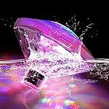 LED Unterwasserlicht Badewannenlicht Teich Pool Bunte Schwimmende Lampe Wasserdicht Party Glow Nachtlichter Unterwasser Disco Beleuchtung Licht 7 Beleuchtung Modi