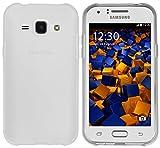 mumbi Hülle kompatibel mit Samsung Galaxy J1 Handy Case Handyhülle, transparent weiss