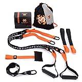 Septagon Sports® Premium Sling Trainer Set V.2021 Suspension Trainer mit Handtuch, Rucksackbeutel und Trainingsbuch - Schlingentrainer für Functional Training mit Türanker + Qualitätszertifikat