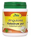 cdVet Naturprodukte Singulares Kolostrum pur 100 g - Hund, Katze, Pferd - reich an Mineralien+Vitaminen+Spurenelementen+Aminosäuren - Stärkung des Immunsystems+Vitalität - appetitanregend -, 1133