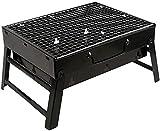Gasgrill tragbar faltbar Holzkohlegrill Schreibtisch Tischplatte Outdoor Schwarz Smoker BBQ für Picknick Garten Terrasse Camping Reisen 13 8 x10 6 x2 4 Garten Grill