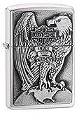Zippo 2000083 Harley Davidson - Made in USA - Eagle & Globe - Chrome brushed