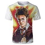 Harry Potter Serie T-Shirt Anime Cartoon 3D gedruckt Sommer Unisex Casual Sommer Neuheit Kurzarm